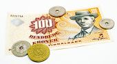 stock photo of compose  - Danish money with portrait of August Nielsen composer - JPG