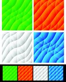 stock photo of distort  - Set of colorful backgrounds with different distortion effects - JPG