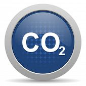 stock photo of carbon-dioxide  - carbon dioxide blue glossy web icon  - JPG