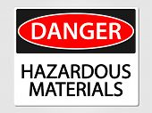 stock photo of hazardous  - Hazardous materials vector sign - JPG