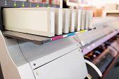 stock photo of cartridge  - Digital printing machine  - JPG