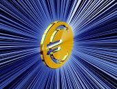picture of currency  - image currency symbol euro currency in the form of coins - JPG