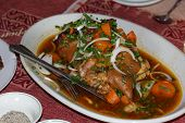 stock photo of stew  - stewed pork good taste for eating with rice - JPG