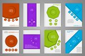 stock photo of octagon shape  - Design color brochures for business in geometric style lines circles diamonds and octagons - JPG