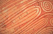 pic of pottery  - Pattern on ancient pottery  for making a background image - JPG