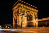 picture of charles de gaulle  - Place Charles de Gaulle by night - JPG
