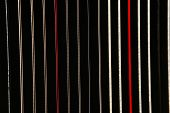 image of string instrument  - Colorful parallel lines of the harp strings - JPG