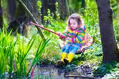 image of wild adventure  - Child playing outdoors - JPG