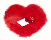 Red Fur Heart And Note On It