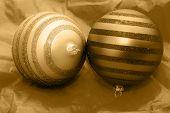 Navidad bolas de oro