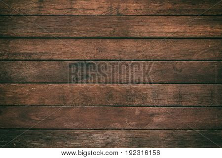Vintage Surface Wood Table And Rustic Grain Texture Background Close Up Of Dark Wall