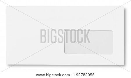 poster of White blank envelope envelop business card letter head background