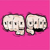 tattooed fists