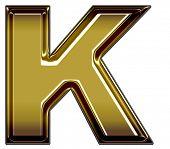 gold upper case K