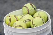 Softballs In Bucket