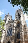 York Minster is a Gothic cathedral in York, England