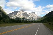 picture of rocky-mountains  - Highway through mountains - JPG