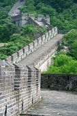 pic of qin dynasty  - Chinese great wall through green hills - JPG