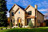 Elegant two story luxury home in Denver, Colorado, United States.