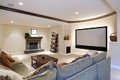 picture of home theater  - Wide angle of theater room - JPG