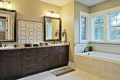 picture of granite  - Luxury bathroom with granite countertops and flooring - JPG