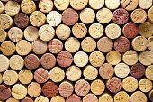Stack of Wine Corks Horizontal