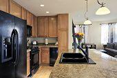 Cocina del apartamento de lujo