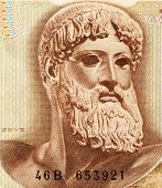GREECE - CIRCA 1970: God Zeus on 1000 Drachmai 1970 Banknote from Greece. The king of the gods, the
