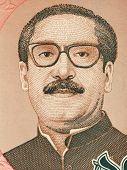 BANGLADESH - CIRCA 1996: Mujibur Rahman (1920-1975) on 10 Taka 1996 Banknote from Bangladesh. Bengali politician and founder of the People's Republic of Bangladesh.
