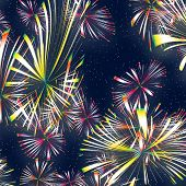 a nice illustration of bright and colourful fireworks