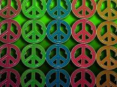 pic of peace-sign  - Peace Signs with green background - JPG