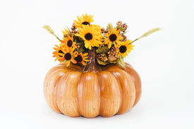 picture of hayride  - Autumn Fall Halloween Thanksgiving and Christmas / XMAS Pumpkin with Flowers   - JPG