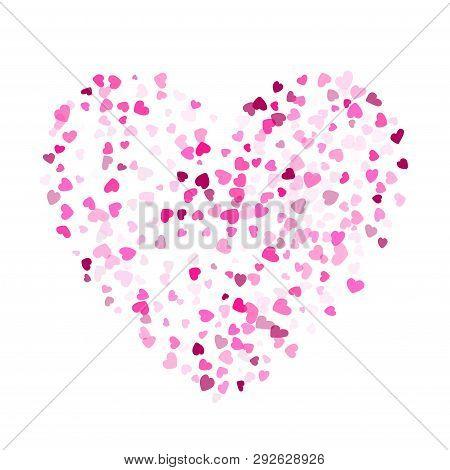Crimson Hearts Confetti Invitation Card