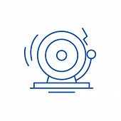 Distress Line Icon Concept. Distress Flat  Vector Symbol, Sign, Outline Illustration. poster