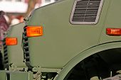 picture of dragster  - Heads of military lorries in position of a priority of one on another - JPG