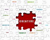 Puzzle-Stücke mit Geschäftsbedingungen