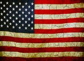 stock photo of yanks  - American flag on a cracked grunge background - JPG