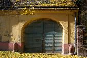 stock photo of tatas  - A wide entrance for carts or farm - JPG