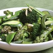 picture of mange-toute  - Sauteed green vegetables - JPG
