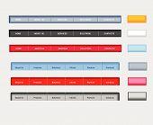 Six Kinds Of Web Navigation Template