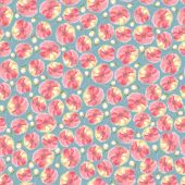 Water Color Floral Seamless Pattern, Blur Flower Background. Fuzzy Aquarelle Botanical Illustration, poster