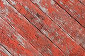 Vintage Old Wood-plank Background - Old Weathered Wooden Plank Painted In Red Color. poster