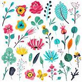 Summer Flowers Flat. Floral Garden Flower Flowering Plant Nature Florals Beauty Spring Anniversary A poster