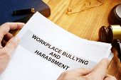Workplace Bullying And Harassment Claim In A Court. poster
