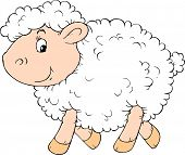 picture of the lost sheep  - Vector clip - JPG