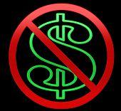No Dollars/Money Illustration