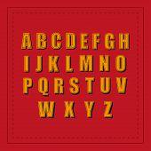 Retro Alphabet. Font Vintage. Retro Fonts Alphabet. Vector Illustration poster