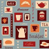 Breakfast seamless pattern