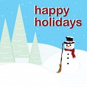 pic of happy holidays  - holiday illustration - JPG