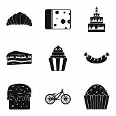 Calory Icons Set. Simple Set Of 9 Calory Icons For Web Isolated On White Background poster
